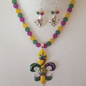 Mardi gras necklace set